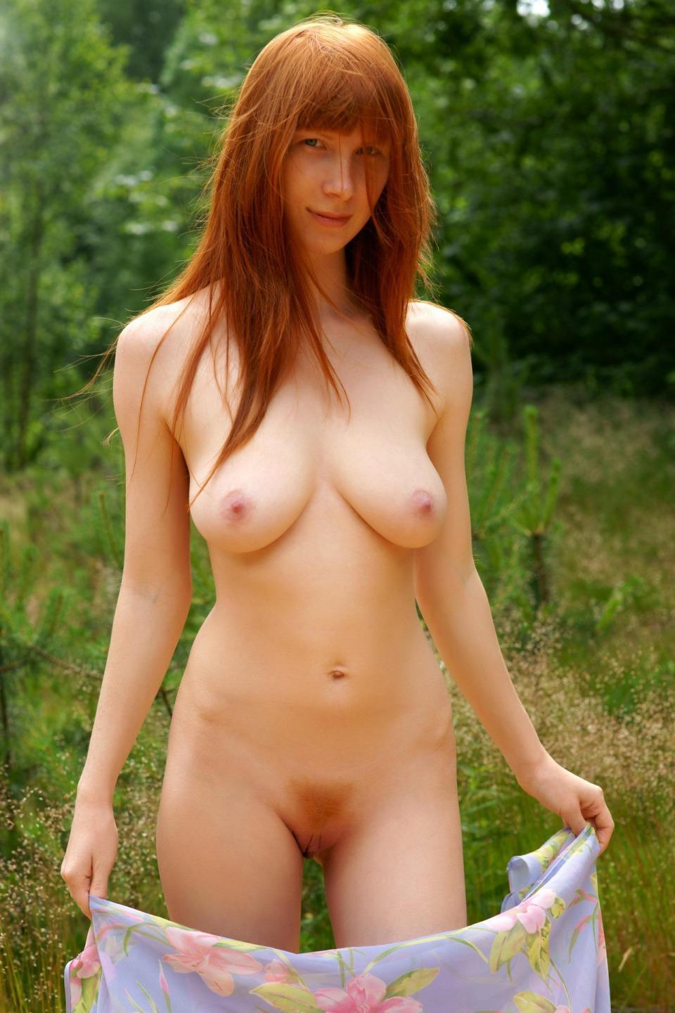 red haired woman naked